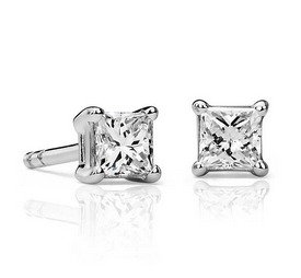Dealmoon Exclusive! 3/8 ct Princess cut Diamond Stud Earrings now 46% off Original Price