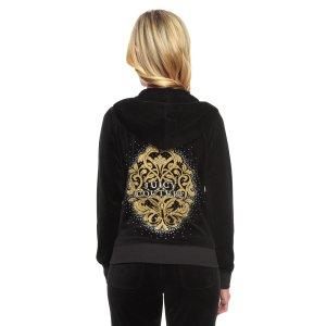 Logo Velour Flourished Crest Original Jacket | Juicy Couture