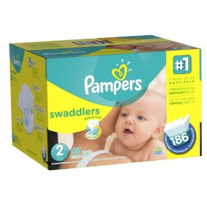 Amazon.com: Pampers Swaddlers Diapers Size 2 Economy Pack Plus 186 Count, (Packaging May Vary): Health & Personal Care