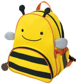 Skip Hop Zoo Little Kid and Toddler Backpack, Ages 2+, Multi Brooklyn Bee