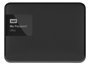 WD - My Passport Ultra 1TB External USB 3.0/2.0 Portable Hard Drive - Classic Black