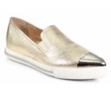 Miu Miu Cap Toe Madras Metallic Leather Skate Sneakers
