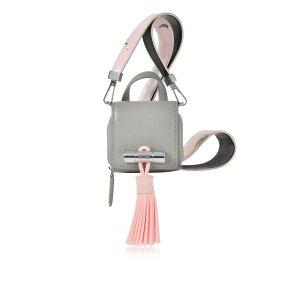 Kenzo Sailor Mini Light Gray Leather Bag at FORZIERI