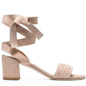 Swifty Lace-Up Block Heel Sandals - Shoes | Shop Stuart Weitzman