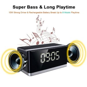 $23.08 Alarm Clock Bluetooth Speaker FM Radio