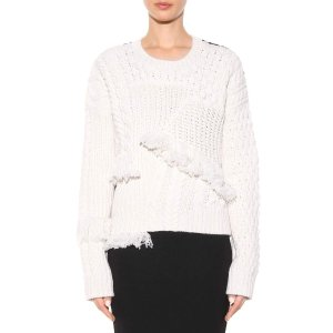 mytheresa.com - Fringed wool and cashmere sweater - Luxury Fashion for Women / Designer clothing, shoes, bags