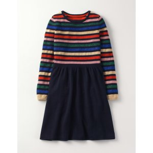 Sparkle Knitted Skater Dress 91415 Knitted Dresses at Boden
