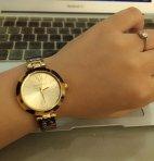 $32.49 Anne Klein Women's 109652CHTO Gold-Tone Tortoise Shell Plastic Bracelet Watch