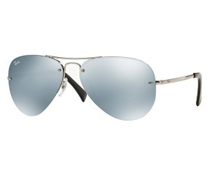 30% Off + Extra 25% Off Ray-Ban® Flash Mirror Rimless Aviator Metal Sunglasses @ Bon-Ton