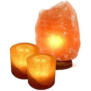 From $21.99 Crystal Allies Gallery: Natural Himalayan Salt Lamp and 2 Piece Cylinder Candle Holder Combo