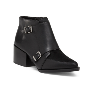 Reese Buckle Leather Booties - Shoes - T.J.Maxx