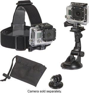 Sunpak PlatinumPlus Action Camera Accessory Mount Kit - Black