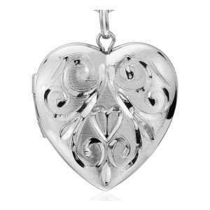 Hand-Engraved Heart Locket in Sterling Silver | Blue Nile