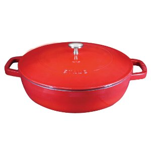 Staub Cast Iron 4-qt Braiser - Visual Imperfections - Cherry