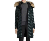 Moncler Bellette Fur-Trim Puffer Coat
