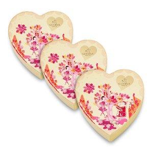 Limited Edition Valentine's Day Chocolate Mini Heart, Set of 3, 6 pc. each | GODIVA