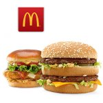 large sandwich or burger @ McDonald's
