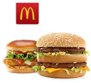 Buy one Get one Freelarge sandwich or burger @ McDonald's