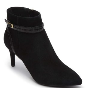 Total Motion Pointed Toe Strap Bootie