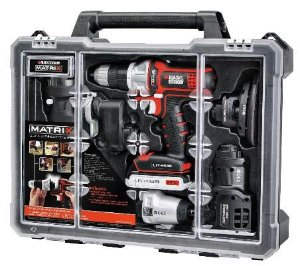 Black & Decker BDCDMT1206KITC Matrix 6 Tool Combo Kit with Case