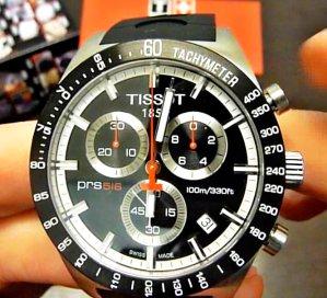 $299.99 Tissot Men's PRS 516 Blue Day Date Dial Watch