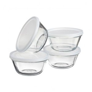 ANCHOR HOCKING 6oz Oven Safe Custard Cup w/Lid, Set of 4 - Black Friday Preview - Sale