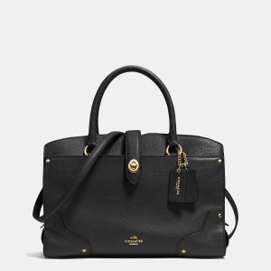 MERCER satchel 30 in grain leather by Coach