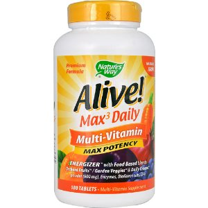 Nature's Way Alive!® Max 3 Daily Multi-Vitamin -- 180 Tablets