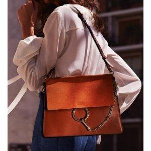 Chloe - Faye Suede & Leather Medium Shoulder Bag - Saks.com