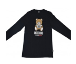 Unineed.com | Moschino Mens Black 'Teddy Bear' Print Long Sleeve Sweatshirt - Special Offer - Premium beauty and fashion from Unineed.com