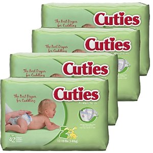 $10.18 + Free ShippingCuties Baby Diapers, Size 2, 42-Count, Pack of 4