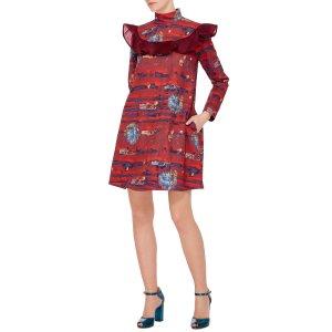 Stella Jean Tendere Ruffle Shift Dress by Stella Jean   Moda Operandi