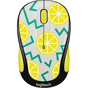 Logitech M325C Wireless Optical Ambidextrous Mouse, Lemon (910-004682) | Staples®
