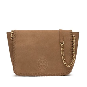 Tory Burch Marion Suede Small Flap Shoulder Bag