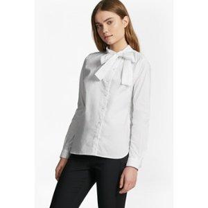 Southside Cotton Neck Tie Blouse   Flash Sale   French Connection Usa