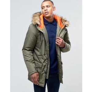D-Struct   D-Struct Faux Fur Trimmed Parka Jacket