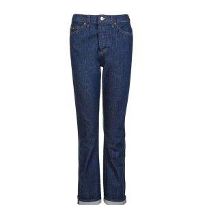 MOTO Raw Indigo Selvedge Straight Leg Jeans