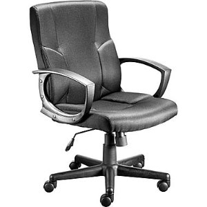 Staples Stiner Fabric Managers Chair, Black