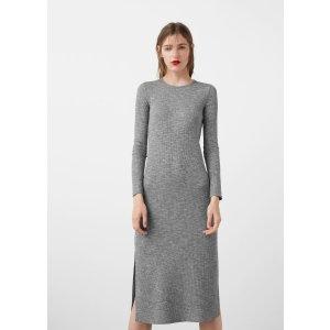 Flecked jersey dress - Women | MANGO USA