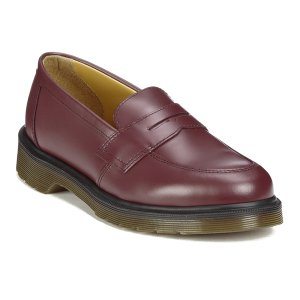 Dr. Martens Women's Addy Loafers - Cherry Red Smooth - Free UK Delivery over £50
