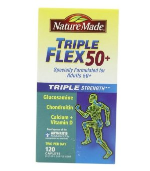 $23.06 Nature Made Triple Flex 50+, Value Size 120 Caplets