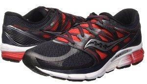 Saucony Men's Zealot ISO Road Running Shoe, Red/Black/Silver