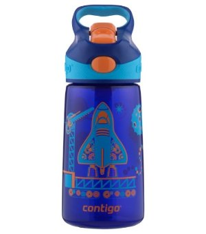 $7.99 Contigo Autospout Striker Kids Water Bottle, 14-Ounce, Sapphire