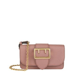 Burberry Mini Buckle Bag with House Check Dusty Pink