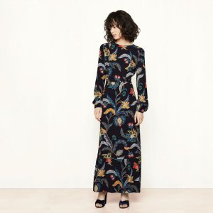 ROUSSEAU Long dress with baroque print - Dresses - Maje.com