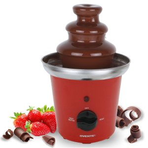 Ovente Two-Tier Stainless Steel Party Chocolate Fondue Fountain, 9 inch