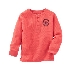 Kid Boy Thermal Logo Henley | OshKosh.com