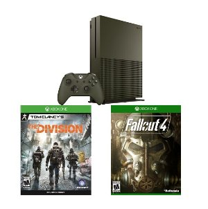$299 Xbox One S 1TB Console Battlefield 1 Special Edition Bundle + Fallout 4 + The Division