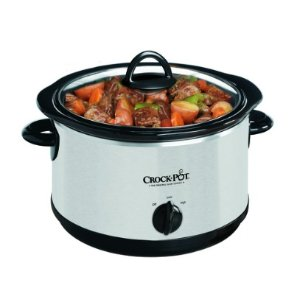 Crock-Pot 4-Quart Smudge Proof Stainless Steel Round Slow Cooker