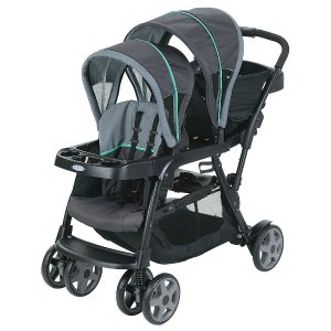 Graco Ready2Grow� Click Connect� Stand and Ride Double Stroller - Lake Green - Graco - Babies